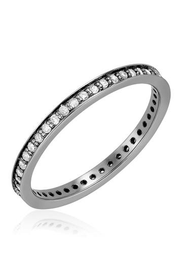 Кольцо Eternity Band с черным родиевым покрытием - 0,35 карата ADORNIA Fine