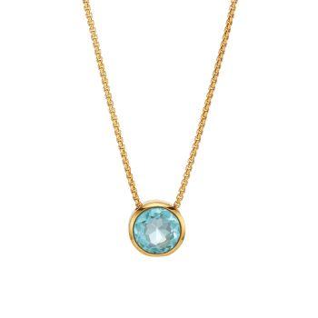 Подпись 22K позолоченное & amp; Ожерелье с синим топазом в стиле нокаут DEAN DAVIDSON