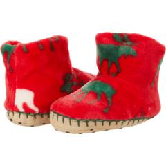 Holiday Moose Fleece Slippers (Toddler/Little Kid) Hatley Kids