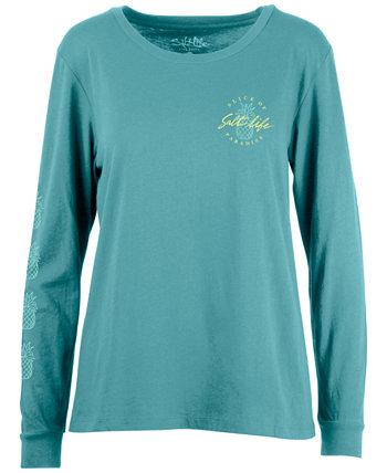 Женская хлопковая футболка с длинным рукавом Slice Of Paradise Salt Life