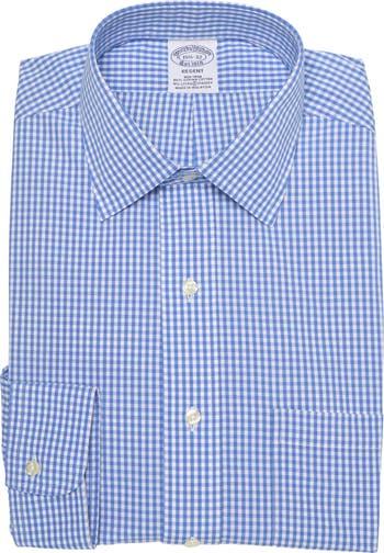 Классическая рубашка Regent Fit в клетку Brooks Brothers