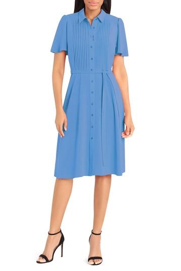 Платье-рубашка миди с защипами Donna Morgan