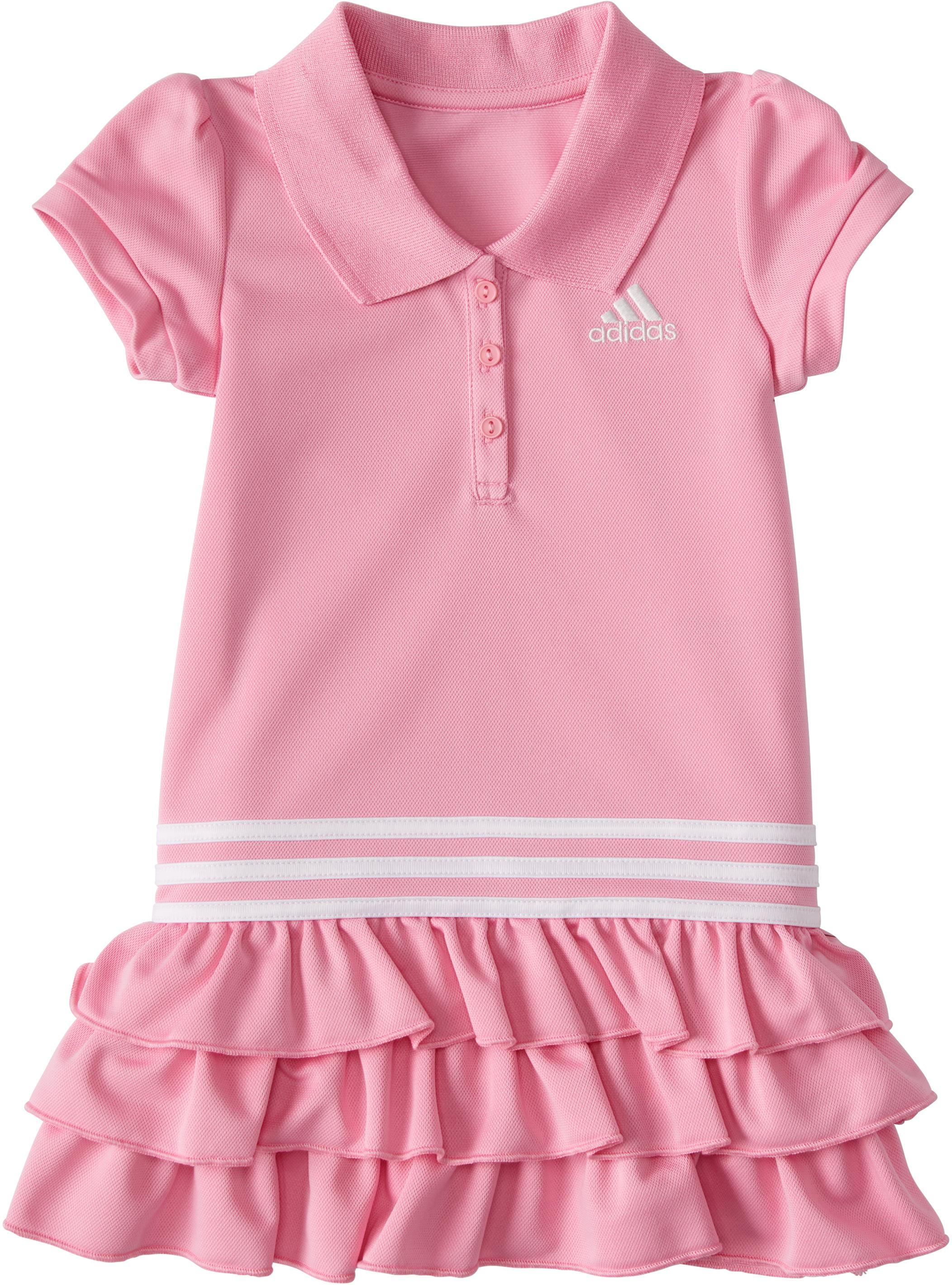 Платье-поло с короткими рукавами (для малышей / маленьких детей) Adidas Kids