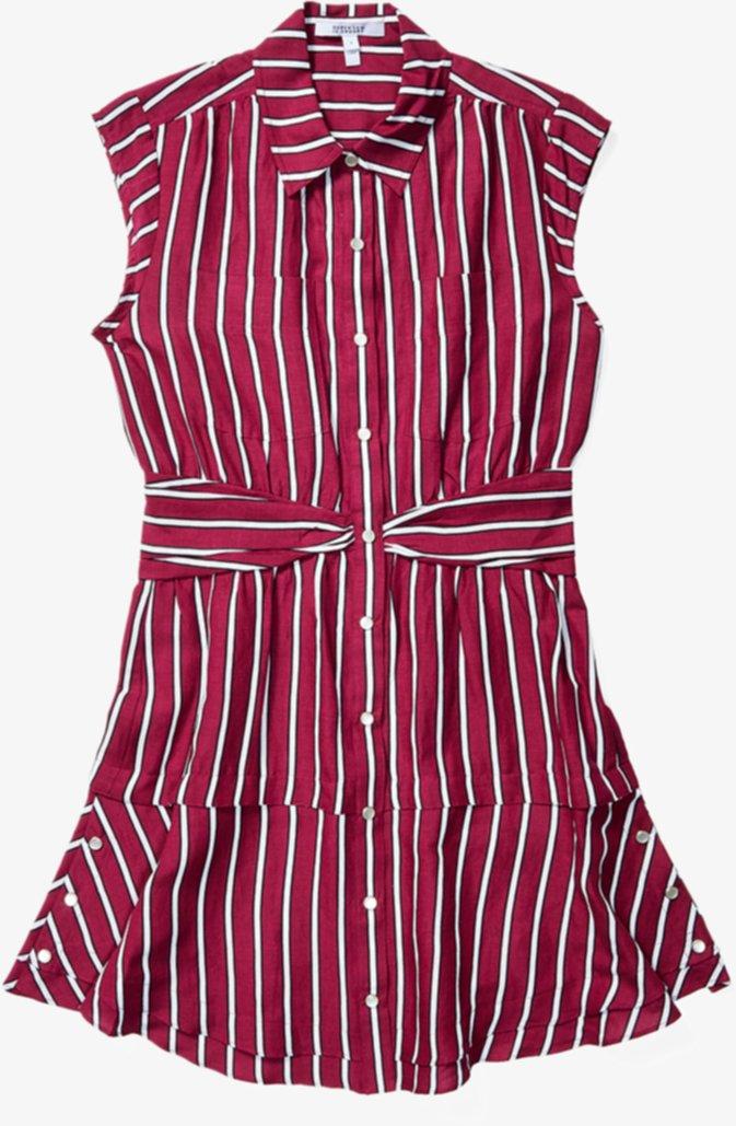 Платье-рубашка без рукавов с перекрученной талией DEREK LAM