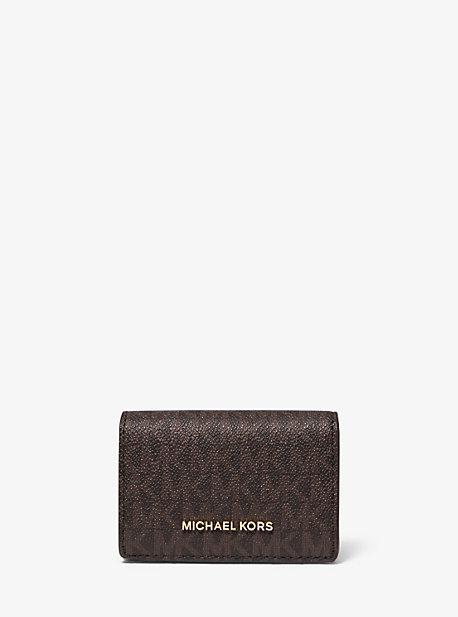 Маленький логотип и кожаный кошелек Michael Kors