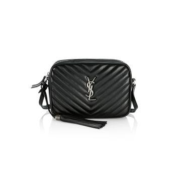 Кожаная сумка для фотоаппарата Lou Matelassé Saint Laurent