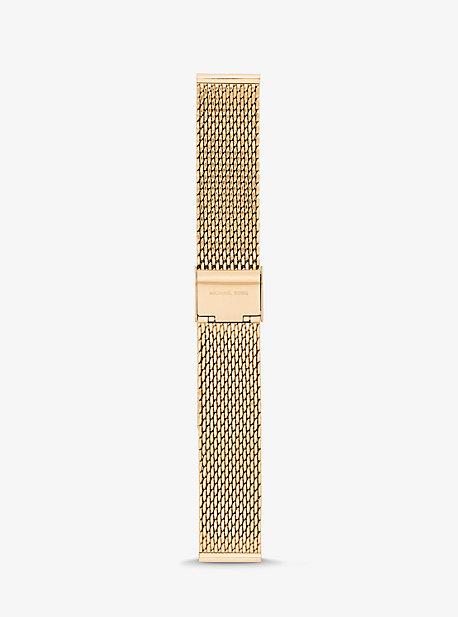 Gen 3 Runway Ремешок в виде золотистой сетки для умных часов Michael Kors