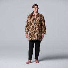 Plus Size Simply Vera Vera Wang Fleece Cardigan and Leggings Set Simply Vera Vera Wang