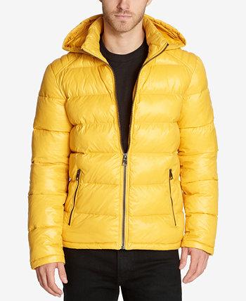 Мужское пуховое пальто с капюшоном GUESS