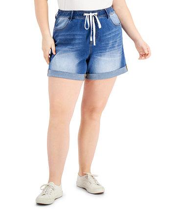 Модные шорты больших размеров с завязками и манжетами Dollhouse