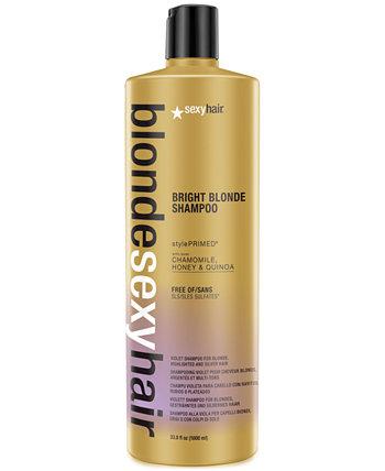 Blonde Sexy Hair Bright Blonde Violet Shampoo, 33,8 унции, от PUREBEAUTY Salon & Spa Sexy Hair