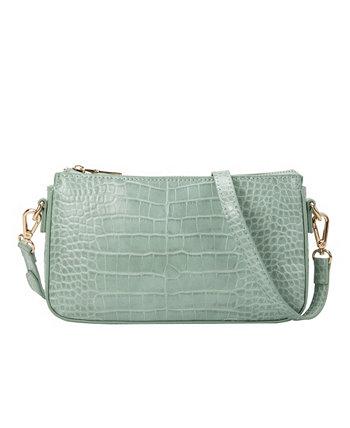 Маленькая женская сумка через плечо Amy Melie Bianco
