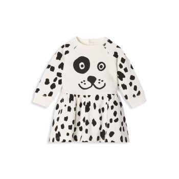 Детские & amp; Платье-толстовка с далматинским принтом для маленьких девочек Stella McCartney Kids