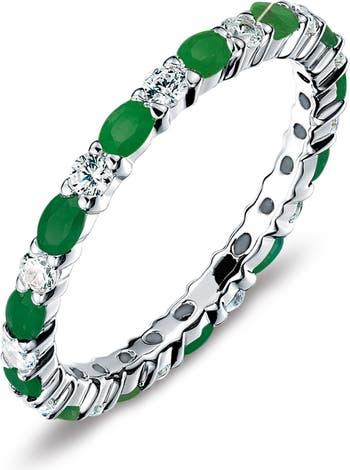 Кольцо с имитацией бриллианта из стерлингового серебра с майским камнем-камнем LaFonn