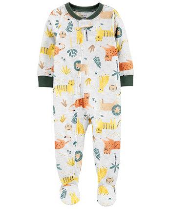 Цельнокроеная пижама свободного кроя с животными Carter для мальчиков Carters