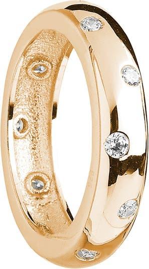 Кольцо CZ из чистого серебра с покрытием из желтого золота 585 пробы Sterling Forever