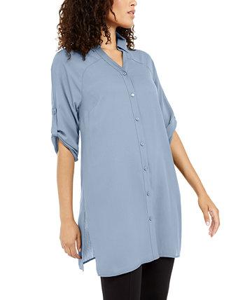 Рубашка туники Roll-Tab, созданная для Macy's Alfani