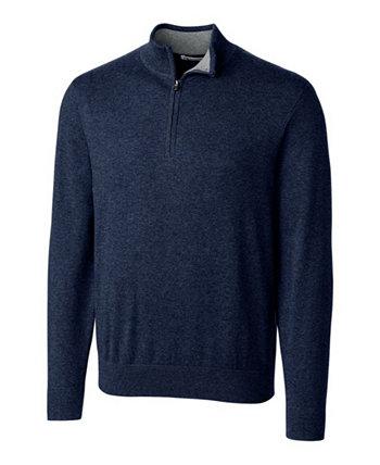 Cutter and Buck Мужской большой и высокий свитер Lakemont с половиной молнии Cutter & Buck