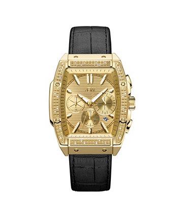 Мужские часы Echelon Diamond (1/4 карата) из позолоченной 18-каратной нержавеющей стали 41 мм JBW