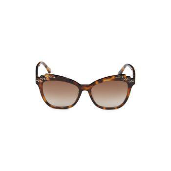 """Квадратные солнцезащитные очки """"Кошачий глаз"""" 55 мм Roberto Cavalli"""