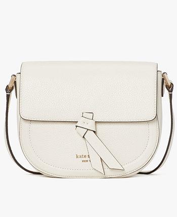 Knott Medium Leather Saddle Bag Kate Spade New York