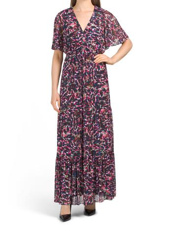 Peek A Boo Back Tiered Maxi Dress Donna Morgan