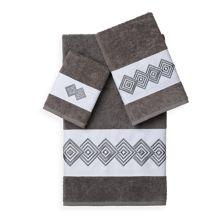 Набор из 3 украшенных банных полотенец Linum Home Textiles Noah LINUM HOME TEXTILES
