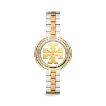 Двухцветные часы с браслетом из нержавеющей стали Miller Tory Burch