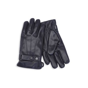 Cashmere-Lined Touchscreen Leather Gloves ROYCE New York