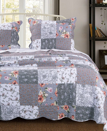 Комплект одеяла Giulia, двухкомпонентный твин Greenland Home Fashions