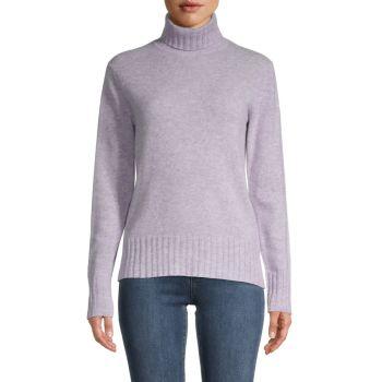 Кашемировый свитер с высоким воротом Qi Cashmere