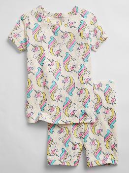 Короткий пижамный комплект babyGap из 100% органического хлопка с единорогом Gap Factory