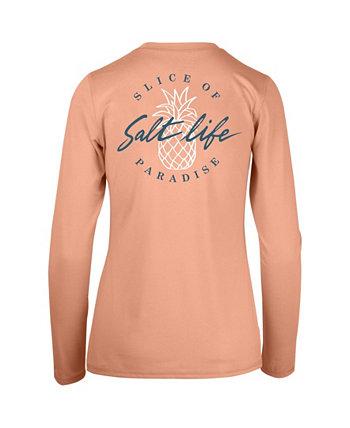 Женская футболка с длинным рукавом для выступлений Slice of Paradise Salt Life