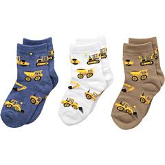 Строительный тройной лечить 3-Pack (младенец / малыш / маленький ребенок) Jefferies Socks