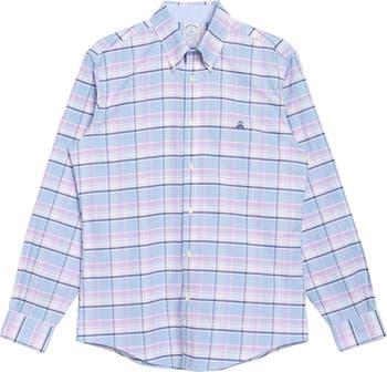 Клетчатая оксфордская рубашка Regent Fit Brooks Brothers