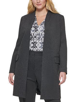 Верхняя куртка больших размеров с открытой передней частью Calvin Klein