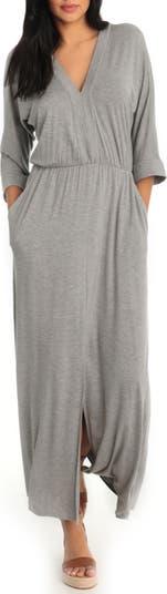 V-Neck Dolman Sleeve Maxi Dress London Times