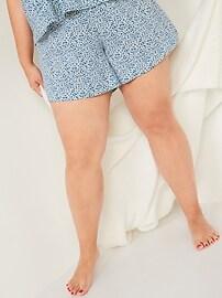 Пижамные шорты большого размера из мягкого тканого материала с высокой талией - 5 дюймов по внутреннему шву Old Navy