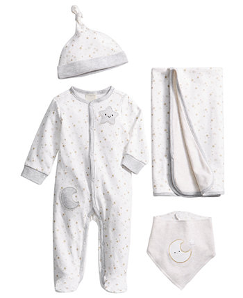 Baby 4-Pc. Cotton Starry Gift Set, Created for Macy's First Impressions
