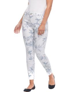 Оливия с принтом Laurel Leaf в цвете White Steel Blue FDJ French Dressing Jeans
