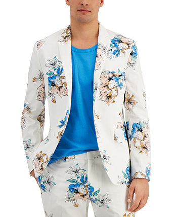 INC Men's Slim-Fit Tropical Floral Print Blazer, Created for Macy's INC International Concepts