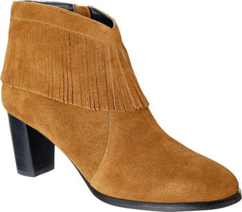 Misty Suede Western Fringe Bootie - Multiple Widths Available David Tate