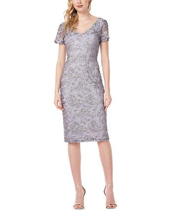 Платье-футляр с сутажной отделкой JS Collections