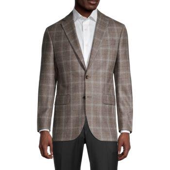Conway Regular-Fit Windowpane Wool Blazer Saks Fifth Avenue