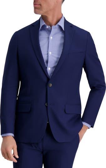 Однотонный однотонный пиджак с двумя пуговицами в полоску и стрейч приталенного кроя Louis Raphael
