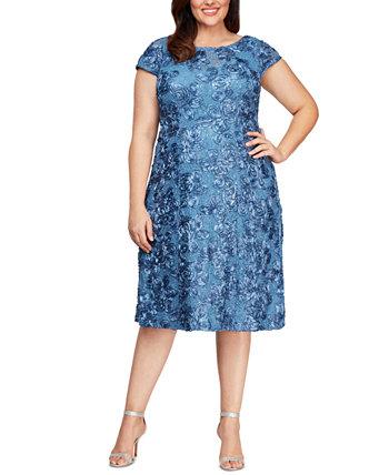 Кружевное платье А-силуэта Alex Evenings