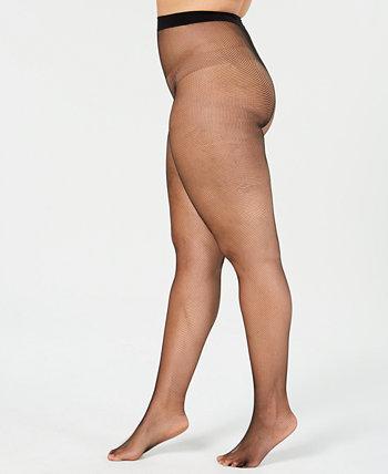 Колготки в крупную сеточку Curves больших размеров Hanes