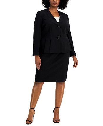 Plus Size Crepe Skirt Suit Le Suit