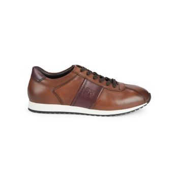 Euro Perforated Leather Sneakers Bruno Magli