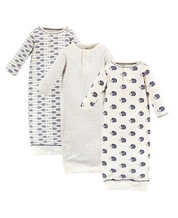 Детские платья для девочек и мальчиков Hedgehog Henley, упаковка из 3 Touched by Nature